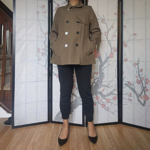 New Everlane The Swing Trench in Sage
